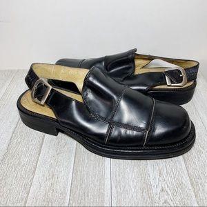Leather Adjustable Ankle Strap Fisherman Sandals